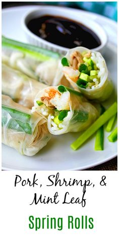 Lose Weight Eating Carbohydrates - Vietnamese-Style Pork and Shrimp Spring Rolls Lose Weight Eating Carbohydrates - Discover the World's First and Only Carb Cycling Diet That INSTANTLY Flips ON Your Body's Fat-Burning Switch Asian Appetizers, Appetizer Recipes, Cold Appetizers, Summer Recipes, Great Recipes, Shrimp Spring Rolls, Carb Cycling Diet, Asian Recipes, Ethnic Recipes