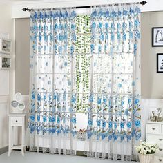 - ICON2 Luxury Designer Fixures  Peony #Tulle #Curtains #for #Bedroom #Home #Decor #Living #Room #Window #Curtains #Decorative #Window #Screen #Kid
