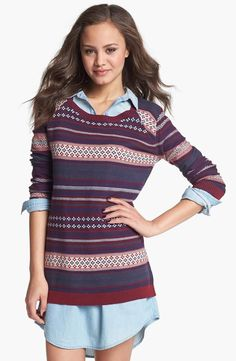 Love the playful Fair Isle pattern on this cozy sweater.