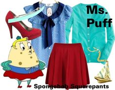 A fashion look from August 2012 featuring long sleeve tops, floral shirt and flared skirts. Browse and shop related looks. Homemade Halloween Costumes, Cool Costumes, Adult Costumes, Costume Ideas, Cosplay Ideas, Spongebob Halloween, Spongebob Costumes, Halloween 2017, Halloween Stuff