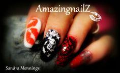 marilyn monroe nails acryl soak off stamping moyou  bling