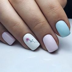There are three kinds of fake nails which all come from the family of plastics. Acrylic nails are a liquid and powder mix. They are mixed in front of you and then they are brushed onto your nails and shaped. These nails are air dried. Cute Nail Art Designs, Nail Designs Spring, Simple Nail Designs, Easter Nail Designs, Spring Design, Cute Spring Nails, Spring Nail Art, Spring Art, Cute Simple Nails
