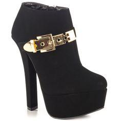 Qupid Lynn - Black Nubuck Pu   Buy ➜ http://shoespost.com/qupid-lynn-black-nubuck-pu/