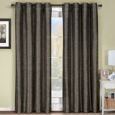 Deluxe Draperies Triple-Pass Foam Back Layer Geneva 52-Inch-by-108-Inch Panel Blackout Curtain with Top Grommet, Grey ** You can get more details by clicking on the image. (This is an affiliate link) #DIYHomeDecor