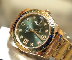 ROLEX PEARLMASTER REF.86348 SAPPHIRE FACTORY BEZEL Automatic 100% Complete! - Timepieces
