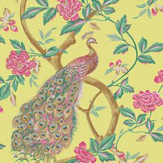 allen   roth�Green Strippable Prepasted Classic Wallpaper