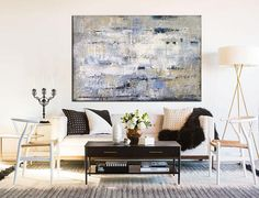 Extra Large Wall Art Canvas Beige Painting Blue Abstract Painting Contemporary Art Original Texture Painting Wall Painting For Living Room Blue Abstract Painting, Hand Painting Art, Texture Painting, Abstract Canvas, Abstract Paintings, Orange Painting, Turquoise Painting, Painting Canvas, Large Canvas Wall Art