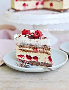 Ciasto Torcik Krówka Malinowa BEZ PIECZENIA - Mała Cukierenka Vanilla Cake, Tiramisu, Cheesecake, Deserts, Cooking Recipes, Ethnic Recipes, Sweet, Food, Cakes