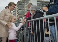 Queen Mathilde and Princess Eleonore in Blankenberge