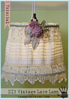 Tammy Tutterow | DIY Vintage Lace Hanging Lamp