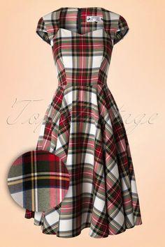 Bunny - 50s Aberdeen Swing Dress in Stewart Tartan