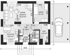 Rzut parteru projektu Dom przy Imbirowej Floor Plans, Flooring, How To Plan, Wood Flooring, Floor Plan Drawing, Floor, House Floor Plans