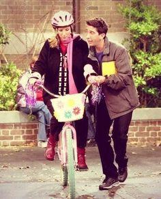 Phoebe Buffay and the bike
