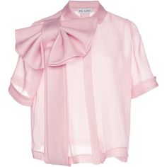 Bow Front Top by Dice Kayek Bow Tops, Pink Tops, Bow Shirts, Pink Shirts, Organza, Bow Blouse, Fashion Dresses, Fashion Design, Clothes