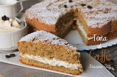 Torta al Caffè Italian Cake, Italian Desserts, Italian Recipes, Coffee Dessert, Coffee Cake, Coffee Coffee, Burritos, Torte Cake, Italy Food