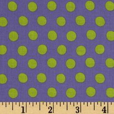 Kaffe Fassett Spot Periwinkle from @fabricdotcom  Designed by Kaffe Fasset for Rowan, this polka dot fabric is perfect for quilting, apparel and home décor accents. Colors include lime and purple.