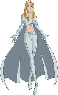 Emma frost from Wolverine and the X-Men.