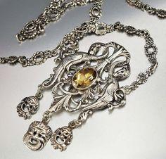Peruzzi Victorian Necklace Citrine Necklace Silver by boylerpf