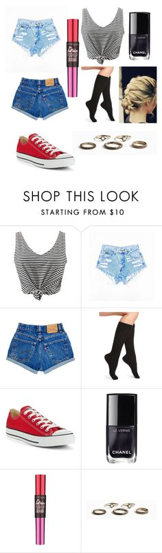 """""""Women's 4.0"""" by theviruz ❤ liked on Polyvore featuring WithChic, UGG, Converse, Chanel and Maybelline"""
