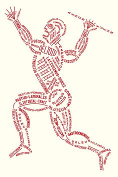 Muscular Typogram by Aaron Kuehn: