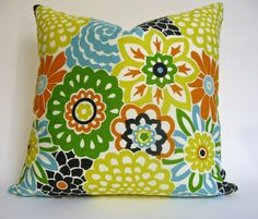 Decorative Floral Designer Pillow Cover  18x18   by MakingFabulous, $42.00