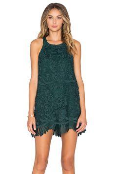 Lovers + Friends x REVOLVE Caspian Shift Dress in Hunter Green