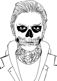 Tate Langdon from American Horror Story.  *Check out full view Prints on sale @ Anime Los Angeles 2014