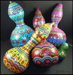 Painted Gourds by andromeda.deviantart.com on @deviantART