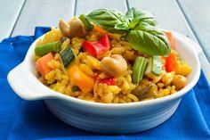 Paella vegan