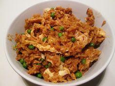 En verden af smag!: Stegte Ris med Kylling og Ærter