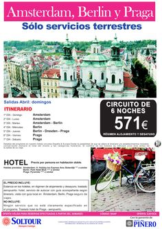 Amsterdam, Berlin y Praga - Circuito 6 Noches desde 571 € - Sólo Servicios Terrestres - Abril ultimo minuto - http://zocotours.com/amsterdam-berlin-y-praga-circuito-6-noches-desde-571-e-solo-servicios-terrestres-abril-ultimo-minuto/