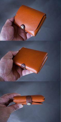 イタリア製牛革の二つ折り財布コンビ / ライトブラウン / ダークブラウン※受注製作の画像4枚目