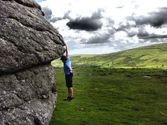 As a good a spot as any for a rest - bouldering Dartmoor