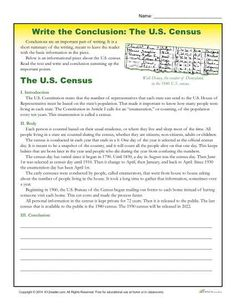 printable template to help students write conclusions students   printable 5th 6th and 7th grade writing activity where students practice writing conclusions