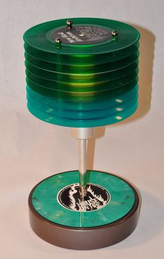 colored vinyl 45 record lamp by artmonkeystore on Etsy, $250.00