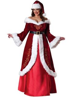 Check out Mrs. St. Nick Plus Size Costume - Wholesale Christmas Costumes for Adults from Wholesale Halloween Costumes