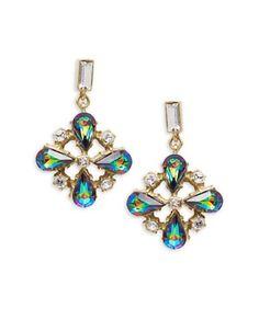 Gerard Yosca Cluster Drop Earrings Women's Multi
