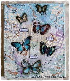 karita: Spread Your Wings... Mixed media canvas