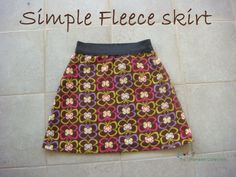 Sewing The Littleheart Collection: Simple fleece skirt with elastic waist