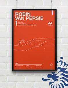 Genius print of Robin Van Persie - Netherlands vs Spain