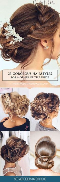33 Mother Of The Bride Hairstyles❤ In the pictures below we are offering some popular creative ideas with long, short and middle hair for mother of the bride hairstyles. See more: http://www.weddingforward.com/mother-of-the-bride-hairstyles/ #wedding #hairstyles #updos