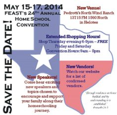FEAST Homeschool Convention Starts Friday May 15