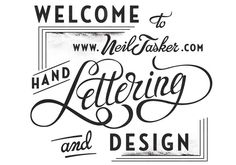Neil Tasker is not only a brilliant graphic designer, he is a master of typography and lettering. Learn more about him at Smartpress.com