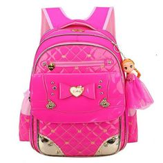 Coolbaby Girl s School Bags Lovely Bowknot Children School Bag Brand PU  Leather Travel Bag Korean 1-3-6 Grade Girl Book Bag A293 aae98a83603ca