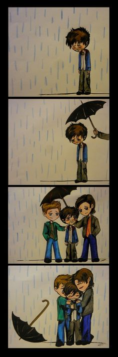 AWWW I CANT STOP PROCESSING HOW ADORABLE THIS IS...- Supernatural - Sam - Dean - Castiel