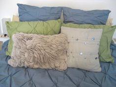 felt circle pillow DIY
