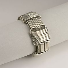 "Bracelet | Hector Aguilar ""Paperclip"".  Sterling silver.  ca. 1940s"