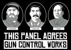 This Panel agrees Gun Control works. Castro, Stalin, Mao
