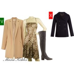 best coat for a knee length dress by mariakohler-imageconsultant on Polyvore featuring Just Cavalli, Miss Selfridge, Joseph and Sergio Rossi