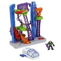 Imaginext Disney Pixar Toy Story Star Command Playset by Fisher-Price. $44.95. Imagine ...  ... a world of action and excitement where you decide what happens next! This time, it's the world of the Disney?Pixar Toy Story movie with an out-of-this-world space station that includes a spaceship, launching pad, space simulator, working elevator and more! There's even a claw that Buzz Lightyear can use to grab rocks or fend off aliens. Whatever world you travel to, it...